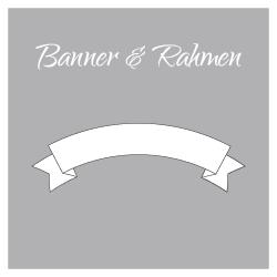 Motivvorlagen/Schnittvorlagen Thema: Banner & Rahmen zum Dekorieren von Kerzen